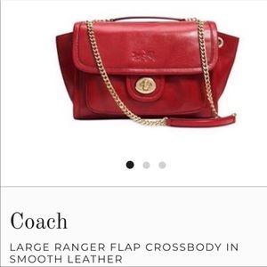 Coach Ranger Flap Leather Crossbody